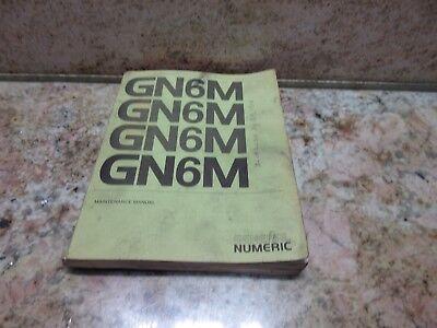 General Numeric Maintenance Manual Gn6m Gn-52025e Burke Cnc3md Mill J Type