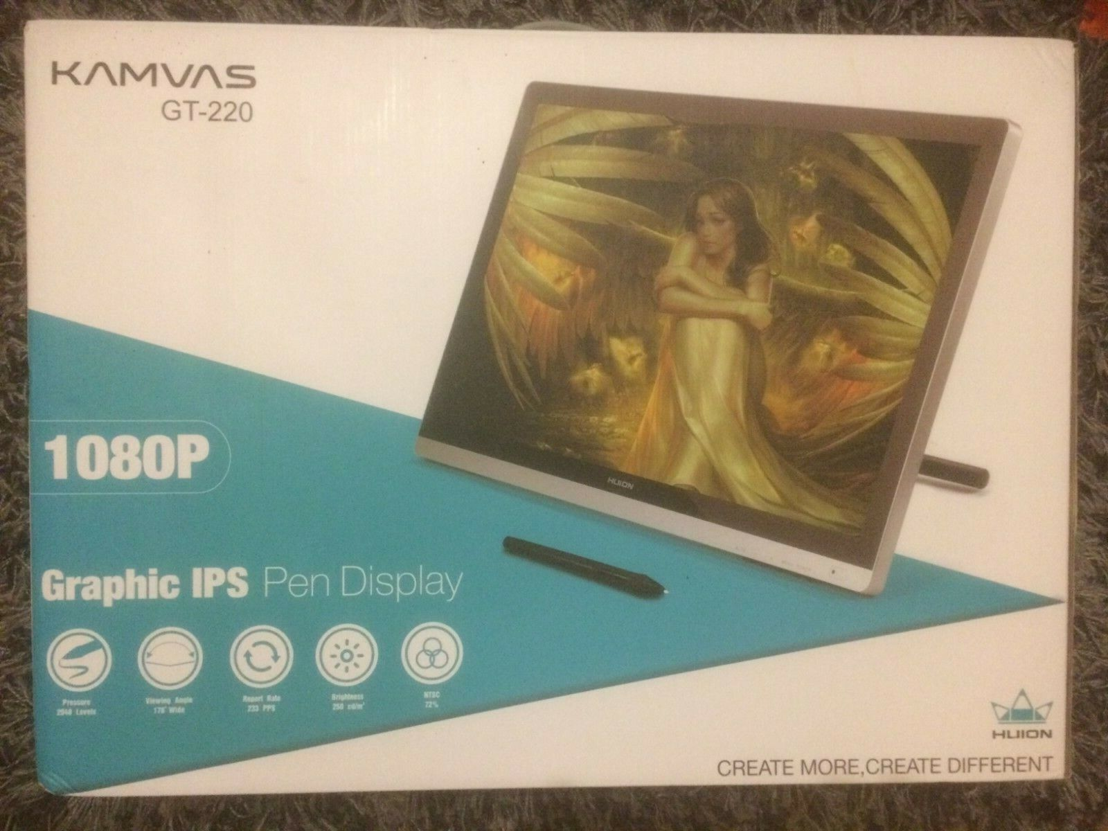 Tablette graphique à écran huion gt 220 v2 kamvas 1080p