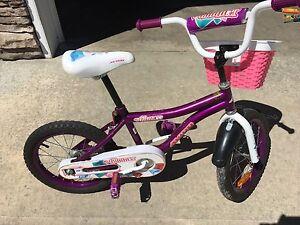 """Girls 16"""" bike,"""