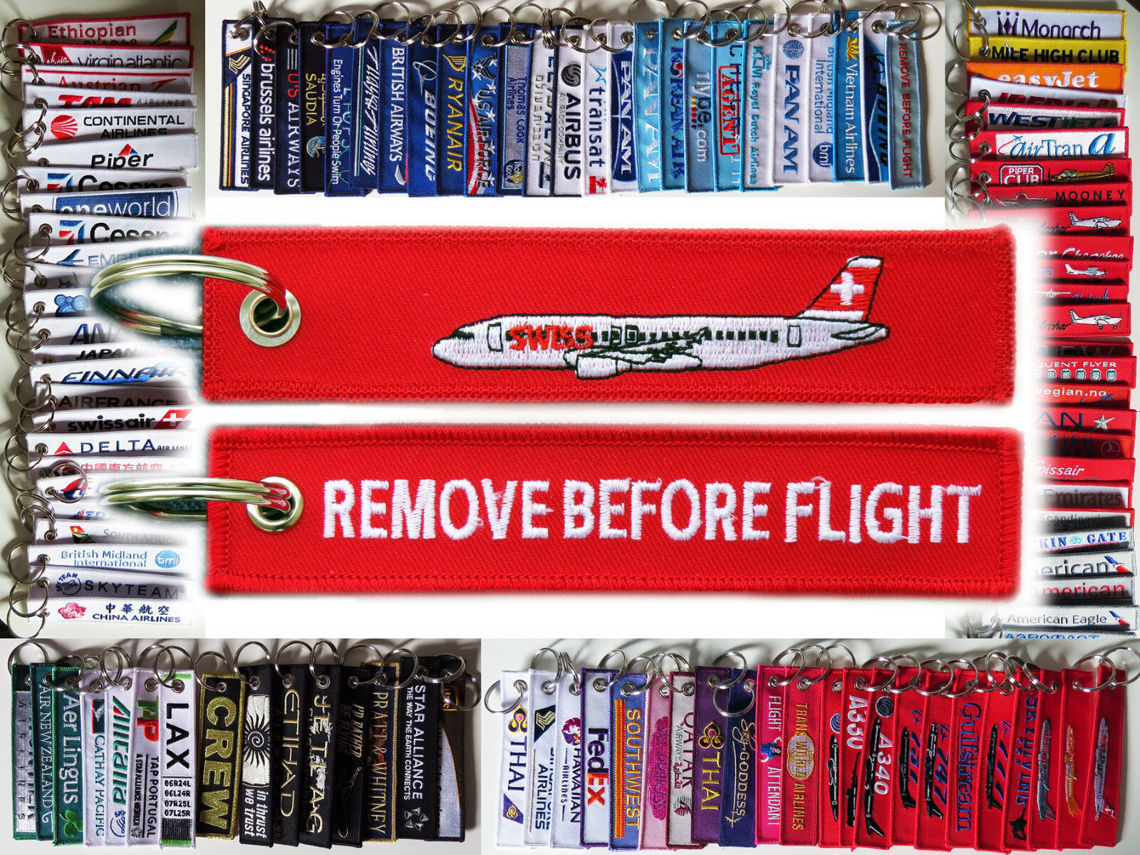 Keyring SWISS INTERNATIONAL AIRLINES A320 Plane Remove Before Flight tag Pilot