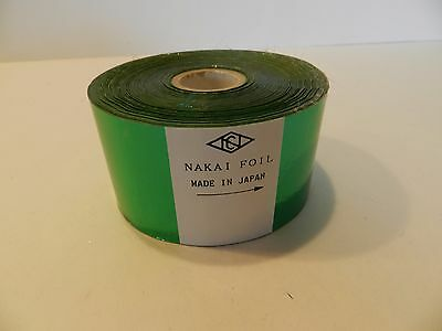 1000 X 2 Green Nakai Foil For Hot Stamping Printing Lot Of 3 Rolls New
