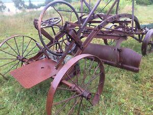 1890s antique metal road grader