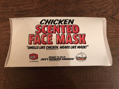 JACK IN THE BOX CHICKEN SCENTED FACE MASK BRAND NEW Promotional Limited SOLD OUT - $49.99