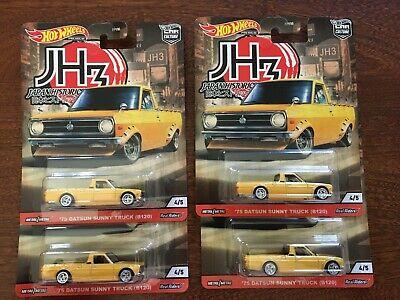 2020 Hot Wheels Premium Japan Historics 3 1975 Datsun Sunny - Lot of 4 Trucks