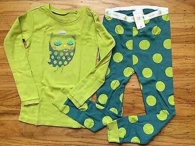 NWT Baby GAP Girly Polka Dot Owl Sleep Set Glitter Accents Pajama PJ NEW 4T 5T