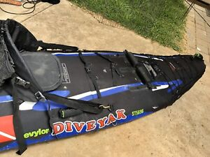 Sea Kayak Sevylor DiveYak strong inflatable for diving & fishing