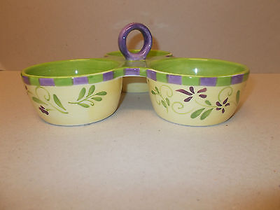 The Tabletop Company, Olive Design, Ceramic, 3 Section Server - Lovely