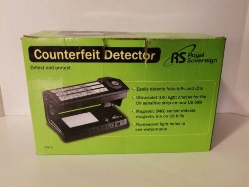 Royal Sovereign Counterfeit Detector 3Way Detector RCD-3 MG/Fluorescent/UV Light