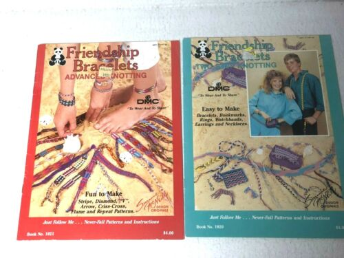 Friendship Bracelets Two Step Knotting and Advanced, 1987, instruction booklets