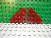 Lego 2 Dark Tan 4x4 corner plate base NEW