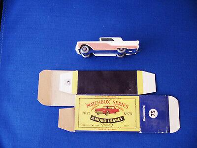Matchbox Moko Lesney No.75 Thunderbird with Original Box Lot-11