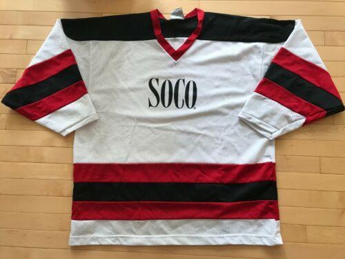 VTG Soco Southern Comfort Whiskey Beer Hockey Jersey Mens Sz XXL Minor League