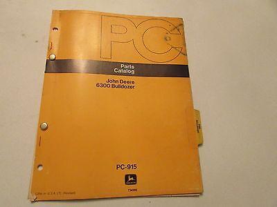 John Deere Pc-915 Bulldozer 6300 Parts Catalog Manual