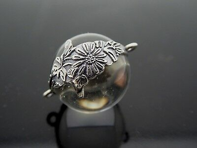 Genuine Pool Of Light Sterling Silver 925 Floral Orb Pendant Component 1 Piece - Light Orbs