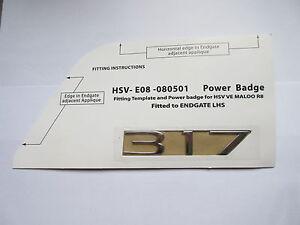 HSV VE CLUBSPORT R8 SENATOR MALOO GTS ' 317 ' BOOT LID BADGE CHROME GENUINE HSV
