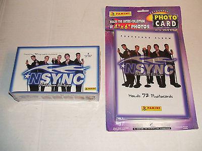 NSYNC PLATINUM TRADING CARDS WAX BOX 36 PACKS + ALBUM + SHEETS JUSTIN TIMBERLAKE
