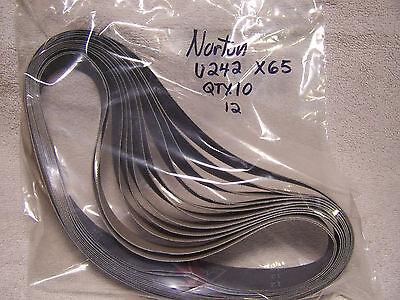 Qty. 10 Norton Norax U242 1 X 24 65 Grit Preminum Sanding Belts