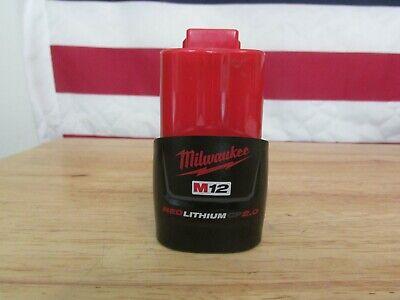 Genuine OEM Milwaukee 48-11-2420 M12 12V Red Lithium 2.0AH Battery Guaranteed