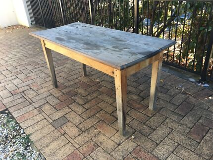 Teak top table - restoration required