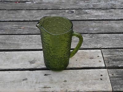 "Vintage Retro Anchor Hocking 7"" glass pitcher"