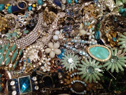 Huge Rhinestone Jewelry Lot Repair/Craft/Harvest layers of colors Variety 23 lbs