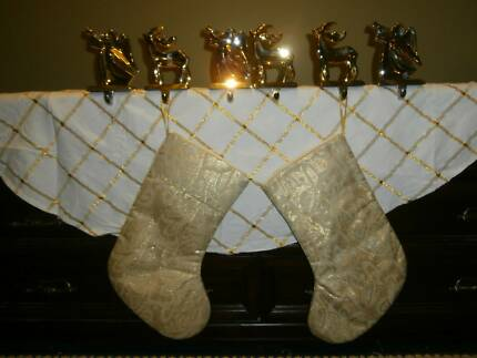 Quality Christmas Stocking Holders/Stockings