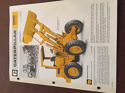 Caterpillar Cat G910 910 Wheel Loader Brochure Original Antique Tractor