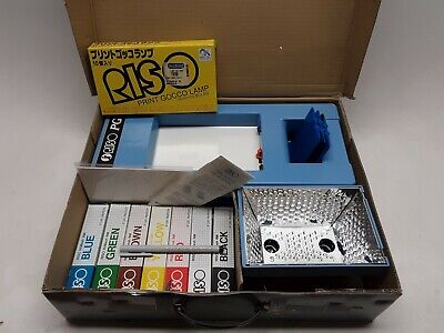 Riso Print Gocco B6 Hi Mesh Set Printer Screen print Kit ink flash bulb pen