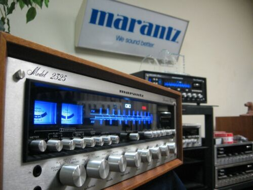 MARANTZ 2325 AM/FM STEREO RECEIVER / WC-43 WOOD CABINET JUST SERVICED