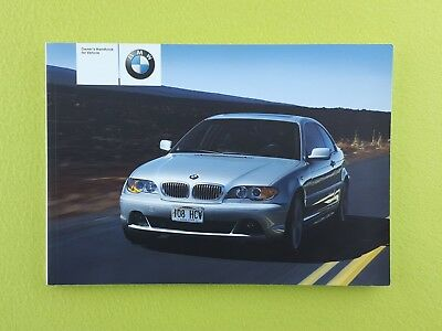 BMW 3 SERIES E46 COUPE (2003 - 2006) Owners Manual / Handbook