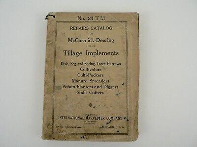 Mccormick Deering Tillage Implements Repair Catalog International Harvester 1926