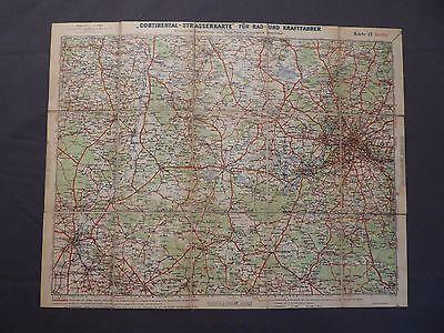 Landkarte, Continental-Strassenkarte 21, Berlin und Umgebung, um 1932