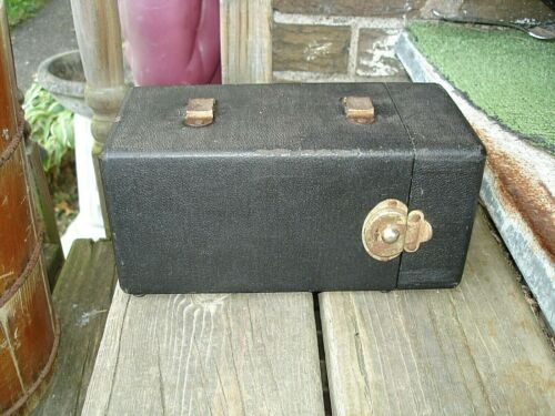 1952 Vibroplex Co. Semiautomatic Telegraph Key Bug 175003 W/Case & Wedge Cord