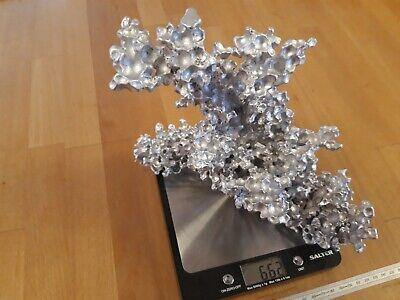 Cast Aluminium Coral Water Gel Orbeez Sculpture Aquarium Paperweight Decoration