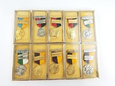 LOT OF VINTAGE KOLIN RIFLE CLUB MEDALS 1960 - 1964 / V H BLACKINGTON MEDAL / 10