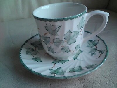 BHS British Home Stores Country Vine Tea Cup and Saucer, USED,FREE-MAILING.