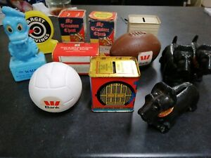 Vintage Assorted Money Boxes