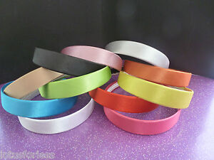 Wide-Satin-Headband-Hair-Band-Alice-Band-LOTS-of-COLOURS-NEW