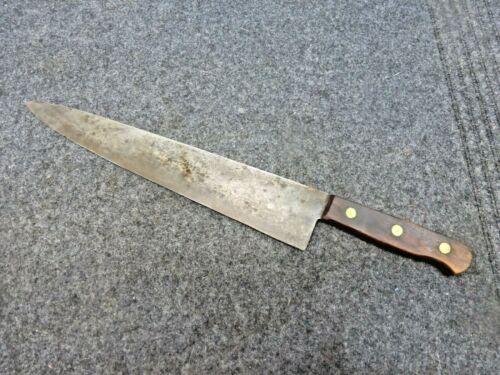 """Vintage Large Chefs Knife-German- 12"""""""