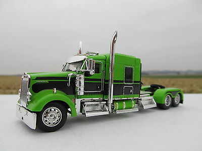Dcp 1 64 Scale W 900 Kenworth Mid Roof Lime Green With Black Seminole Stripe
