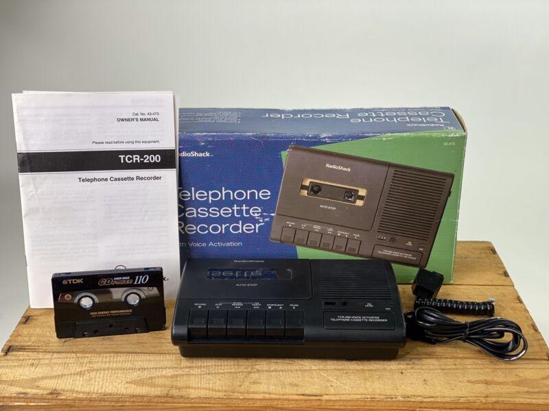 RADIOSHACK TCR-200 VOICE ACTIVATED TELEPHONE CASSETTE TAPE RECORDER