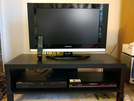 Televison, DVB receiver + DVD player and stand