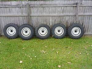 5x 7.50 R16 4wd Tyres and 6 Stud Split Rims Redlynch Cairns City Preview