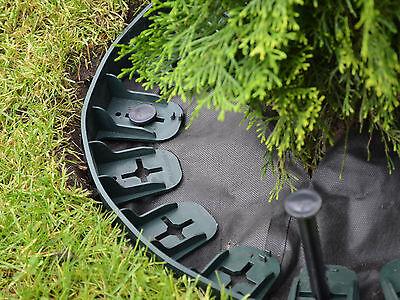 Lawn Edging Garden Border Edge Sleeper Edging - Green - 10 Lengths (7.5m) - 60mm