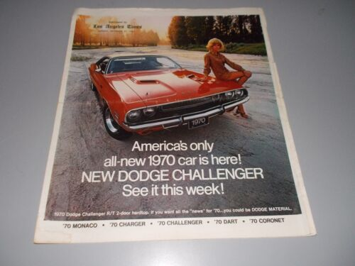 1970 Dodge Challenger and other vehicles - Supplement to the L.A. Times