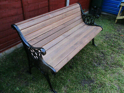 Late Victorian Early EdwardianGarden Bench Cast Iron Restored Authentic At SE28.