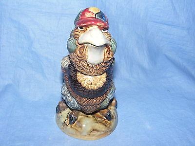 Burslem Pottery Grotesque Bird Schoolboy Tobacco Jar Wally Bird