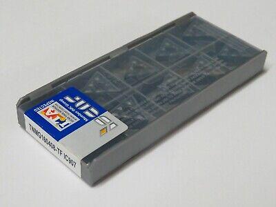 10 Pcs Iscar Tnmg 332-tf Tnmg 160408-tf Grade Ic907 Carbide Inserts