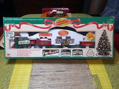 Santaland Christmas Train for 7' tree Logger Bears Express Animated 1997 R-15