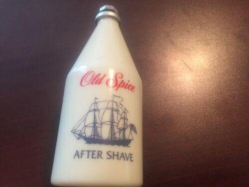 Vintage  SHULTON OLD SPICE  AFTER SHAVE  bottle 4 1/4 FL OZ  White Ship Star Cap